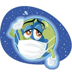 Global pandemic dangerous virus concept vector