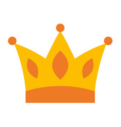 Gold crown jewelry royal monarch vector