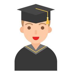 graduate man icon profession and job vector image