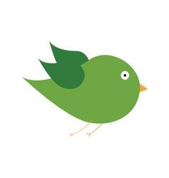 green bird color art vector image