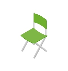 Green chair isometric 3d icon vector