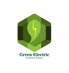green electric logo for green life vector image