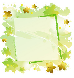 Green frame on square green background decorated vector