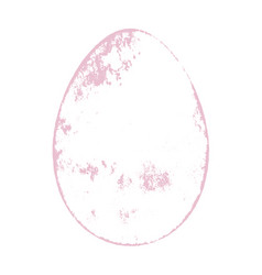 grunge color egg vector image
