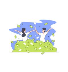 happy rich people vector image