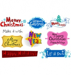 holiday inscriptions vector image