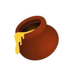 Honey in jars cartoon icon vector