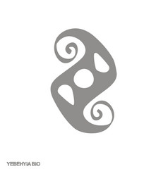 Icon with adinkra symbol yebehyia bio vector