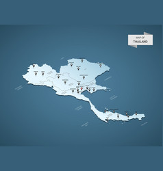 isometric 3d thailand map concept vector image