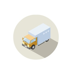 isometric of Truck with fridge vector image