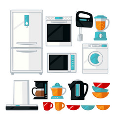 Kitchenware and kitchen equipment assortment vector