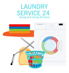 laundry service design cleaning concept vector image