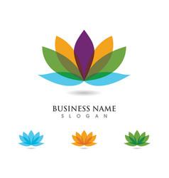 lotus flowers design logo vector image