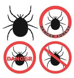 Mite Warning Sign Tick Icon vector