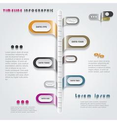 Modern timeline infographics design vector