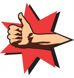 OK hand signal vector image