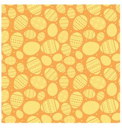orange easter seamless pattern with eggs vector image