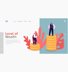 People with different income class landing page vector