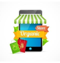 Phone Mobile Store On-line vector image