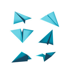 Plane paper design isolate dimention vector