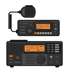 Police Car Radio Transceiver Set vector image