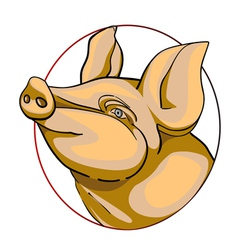 Pork label vector image