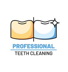 professional teeth cleaning isolated logo vector image