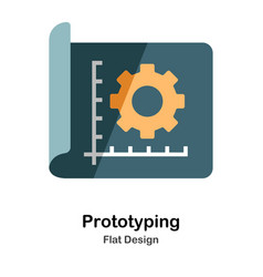 Prototyping flat icon vector