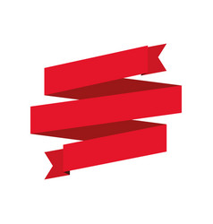 Red ribbon decoration art vector