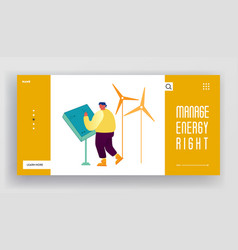 Renewable resources green energy generation vector