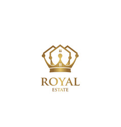 royal estate logo vector image