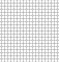 Seamless monochrome star shape grid pattern vector image