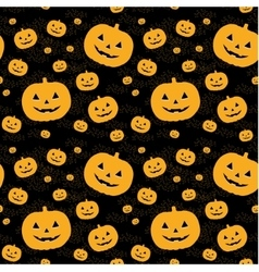 Seamless pattern with pumpkins on background vector image