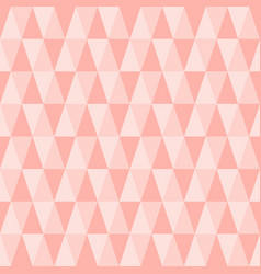 Seamless triangle pattern pastel pink geometric vector