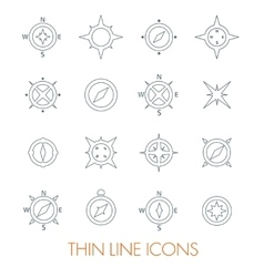 Set of compasses vector image