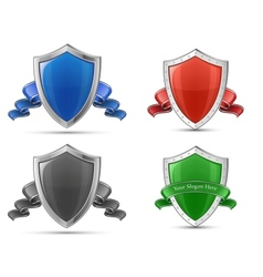 Shields and ribbons vector