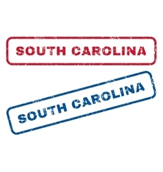 South Carolina Rubber Stamps vector image