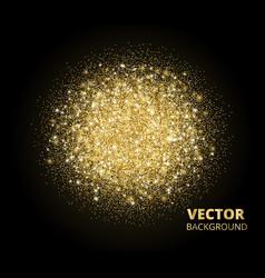 sparkling background golden glitter explosion vector image