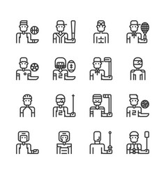 sport avatar icon set vector image
