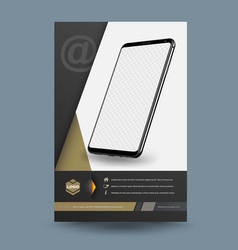 template for technology vector image