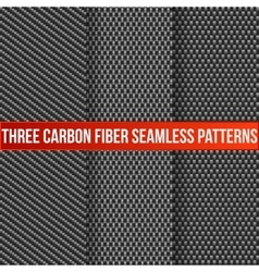 Three seamless carbon patterns vector