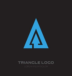 Triangular Business logo with arrow design element vector image