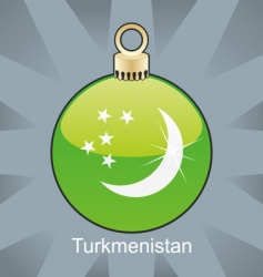 Turkmenistan flag in bulb vector image