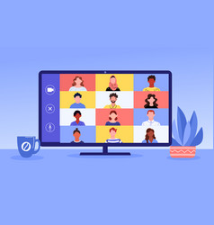 video call concept vector image