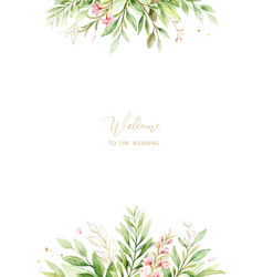 watercolor card pink flowers and almond vector image