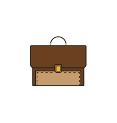 briefcase and business solid icon finance vector image