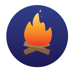 campfire with firewood icon of for vector image