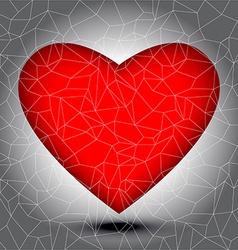 Mosaic heart tiles vector
