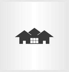real estate icon house vector image vector image