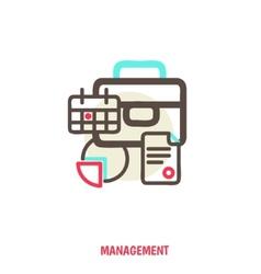 time management statistics vector image